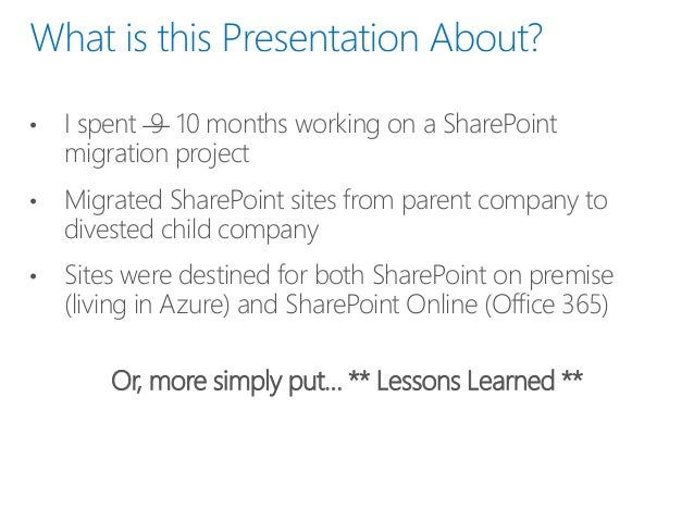 9 Months of Fun with SharePoint in Azure and Office 365 Slide 3