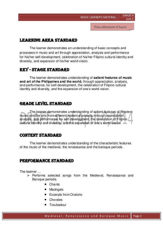 Printables In Music What Does Allegro Mean grade 9 module in music learners