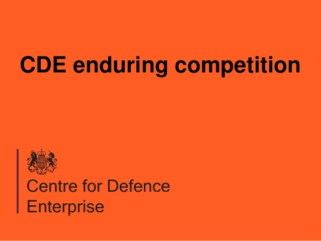 CDE enduring competition