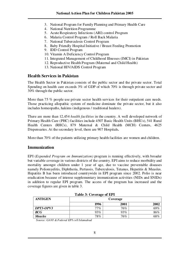 National plan of action for children control of diarrheal diseases cdd 13 national action plan for children pronofoot35fo Images