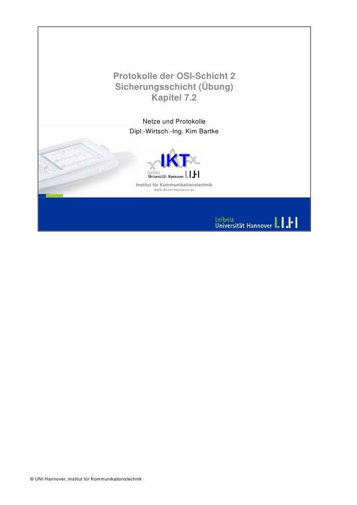 Protokolle der OSI-Schicht 2                                      Sicherungsschicht (Übung)                               ...