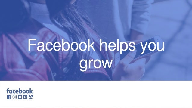 Logo to be replaced Facebook helps you grow