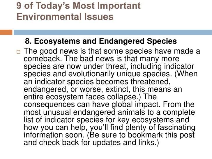 Today's Top 5 Environmental Concerns
