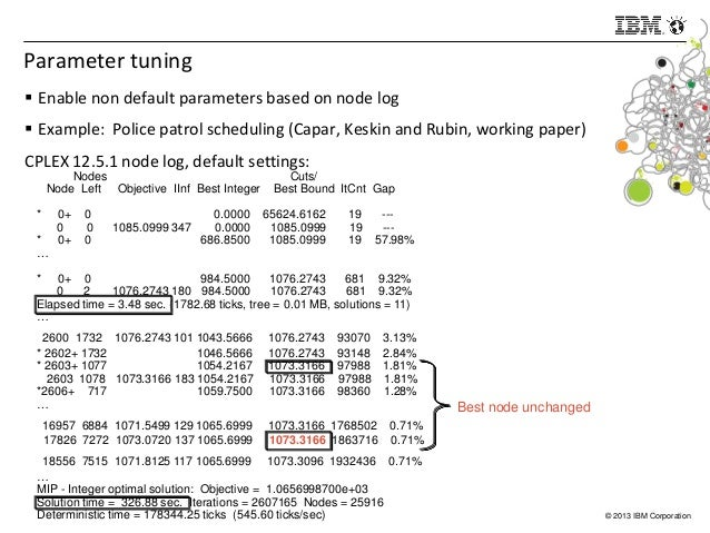 Mining the CPLEX Node Log for Faster MIP Performance