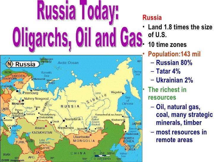 <ul><li>Russia </li></ul><ul><li>Land 1.8 times the size of U.S. </li></ul><ul><li>10 time zones  </li></ul><ul><li>Popula...