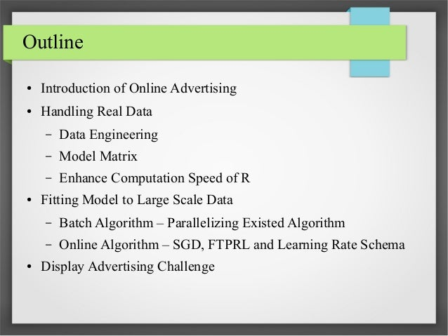 Online advertising and large scale model fitting Slide 2