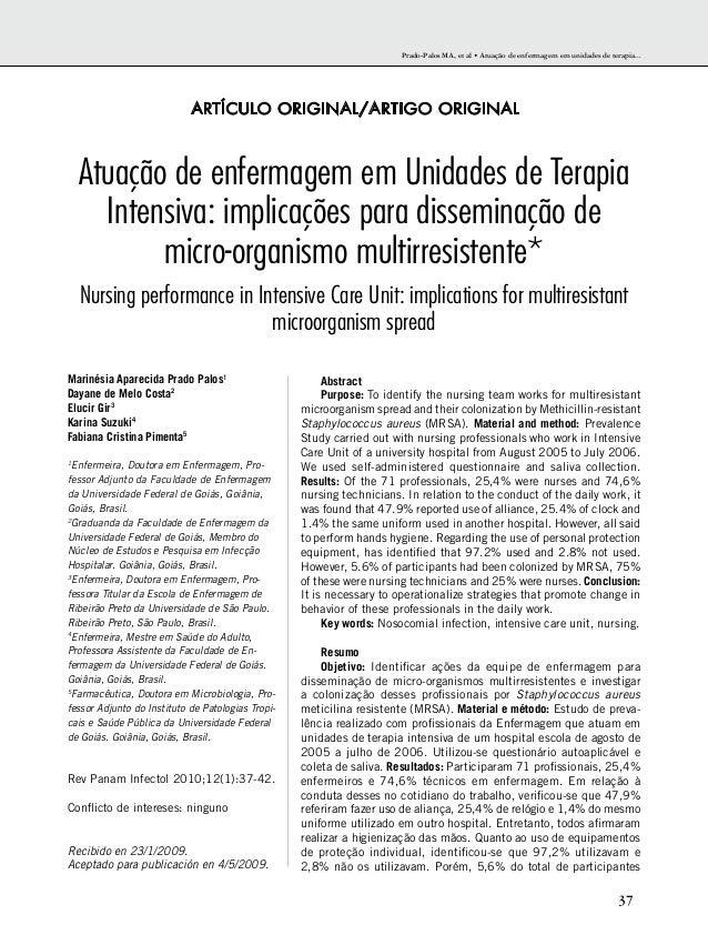 Prado-Palos MA, et al • Atuação de enfermagem em unidades de terapia...  37  ARTÍCULO ORIGINAL/ARTIGO ORIGINAL  Atuação de...