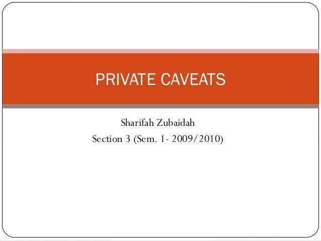 Private Caveat