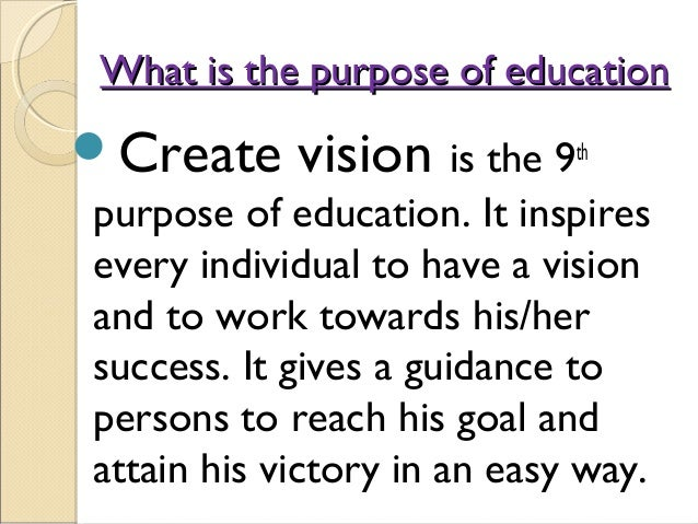 9 Purposes Of Education