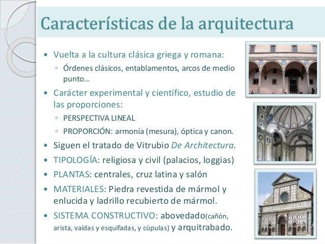 Tema 9 el quattrocento arquitectura y pintura Arquitectura quattrocento caracteristicas