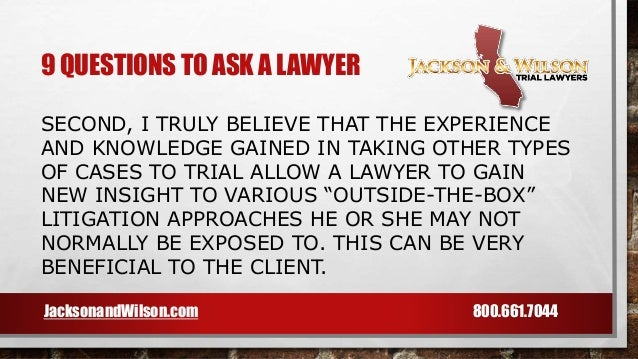 how to ask charge to lawyer