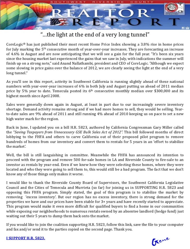 """""""…the light at the end of a very long tunnel""""CoreLogic® has just published their most recent Home Price Index showing a 3...."""