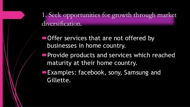 why do companies globalize