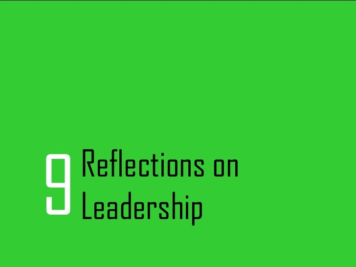 9 Reflections on Leadership
