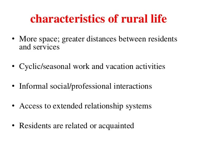 definition of rural community in sociology