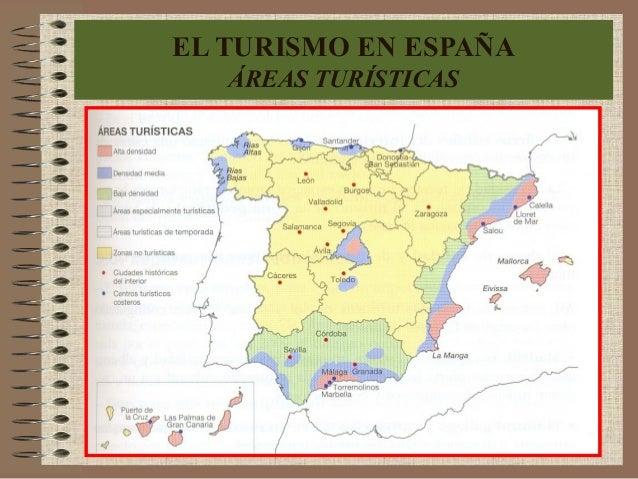 EL TURISMO EN ESPAÑA ÁREAS TURÍSTICAS