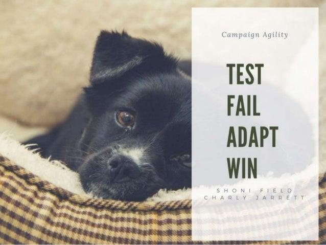 Test, Fail, Adapt, Win: Increase Your Chances of a Successful Campaign – Shoni Field + Charly Jarrett, BC SPCA