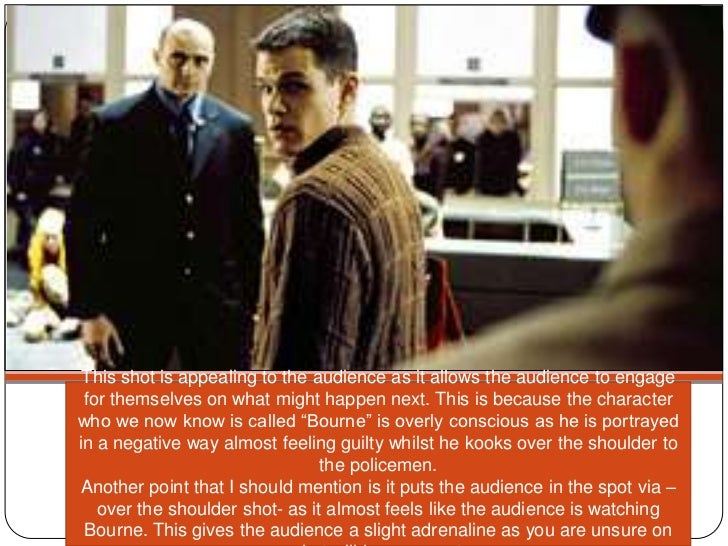 the bourne identity critical analysis The bourne identity opening scene  the character is positioned in the corner of  the shot, this suggests he  9 shot analysis of bourne identity.