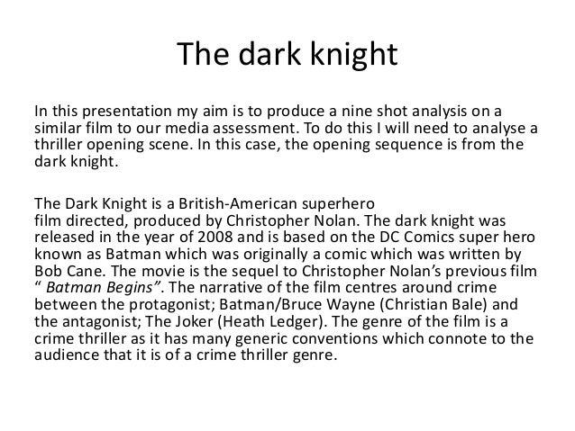 9 shot film analysis (The Dark Knight)
