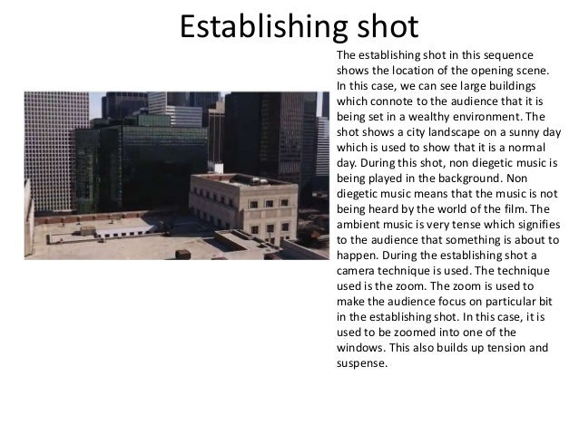 shot film analysis the dark knight  3 establishing shot the establishing