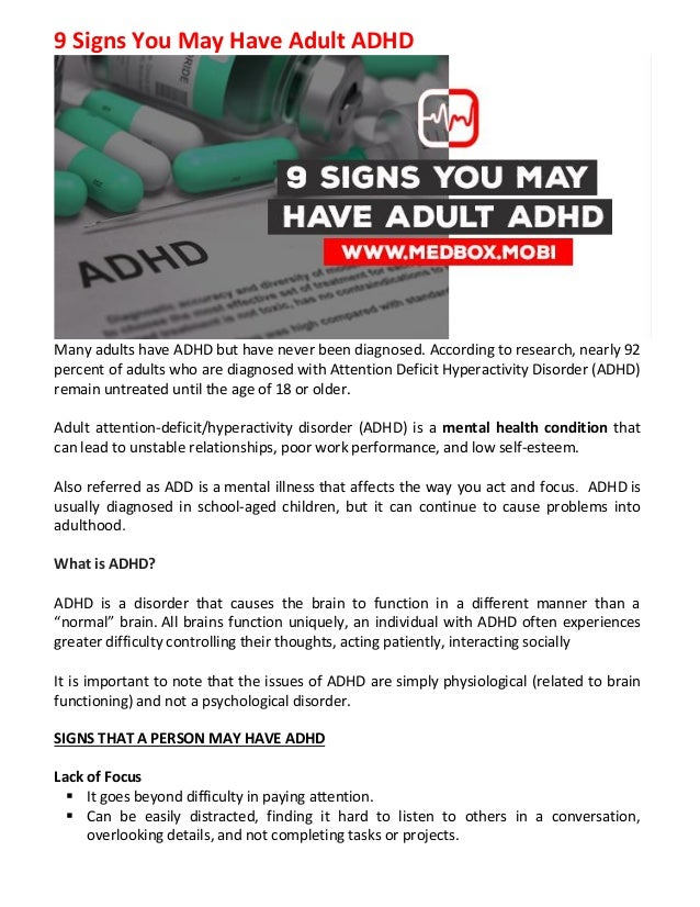 Adult Add And Relationships