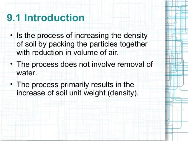 9 soil compaction for Soil unit weight