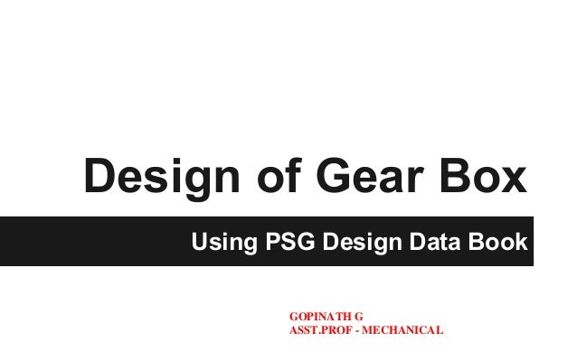 Gearbox Design Book
