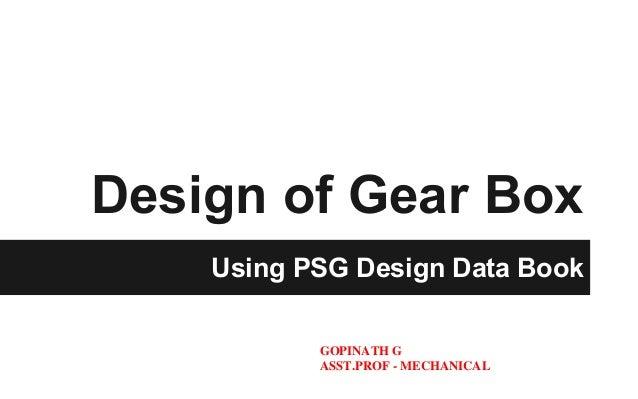 Gearbox Design Book