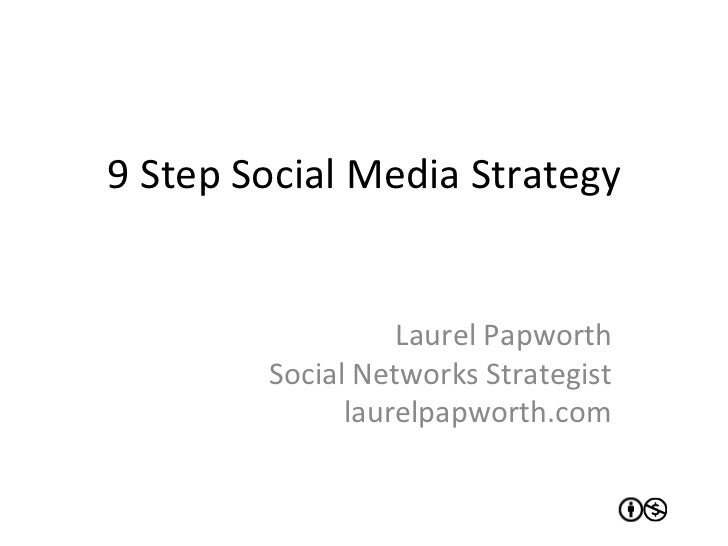 9	  Step	  Social	  Media	  Strategy	                            Laurel	  Papworth	               Social	  Networks	  Stra...
