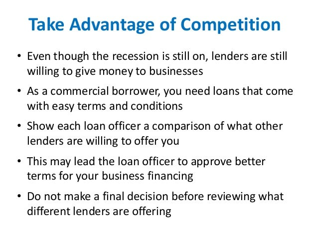 how to get a commercial loan applying for a commercial