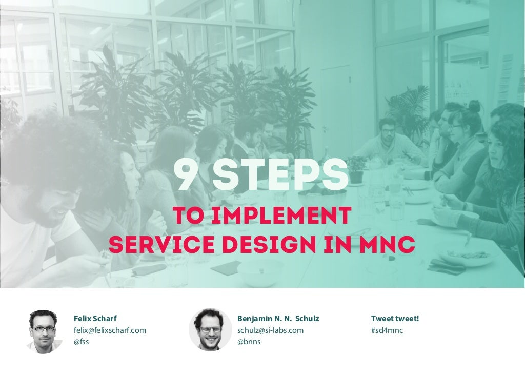 9 steps to implement service design in MNC