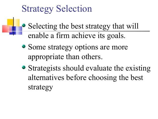 Strategic Management & Strategic Planning Process