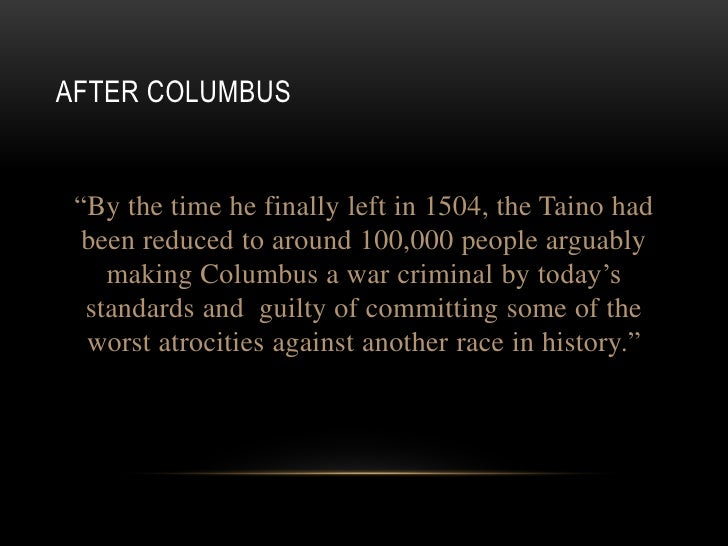 christopher columbus good or evil essay We will write a custom essay sample on columbus day should not be celebrated specifically for you  christopher columbus essay  christopher columbus good or evil .