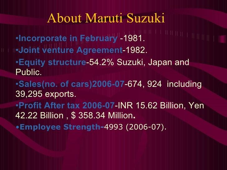 organisational structure of maruti suzuki Sales organization structure of maruti suzuki ltd 1 presentation onsales organization structure 2 company information.