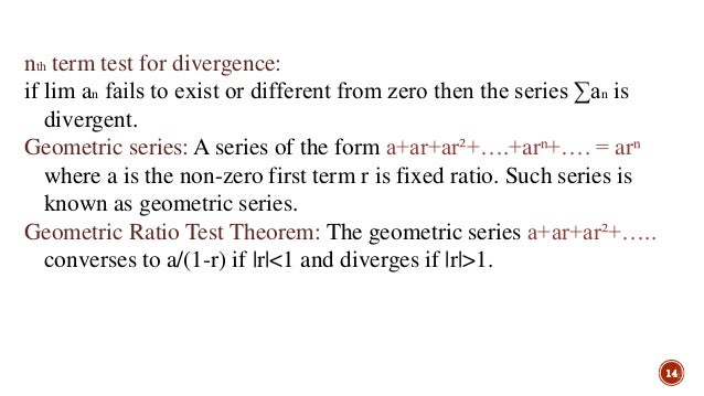 Infinite series-Calculus and Analytical Geometry