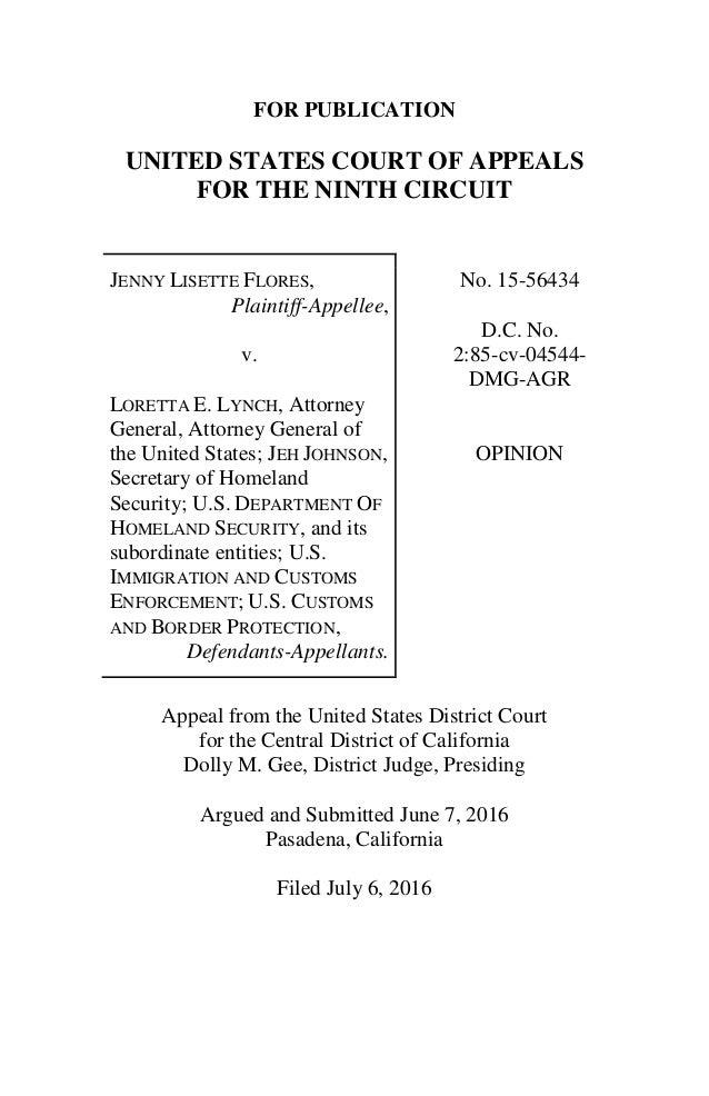 9th Circuit Appeal Court Flores Decision
