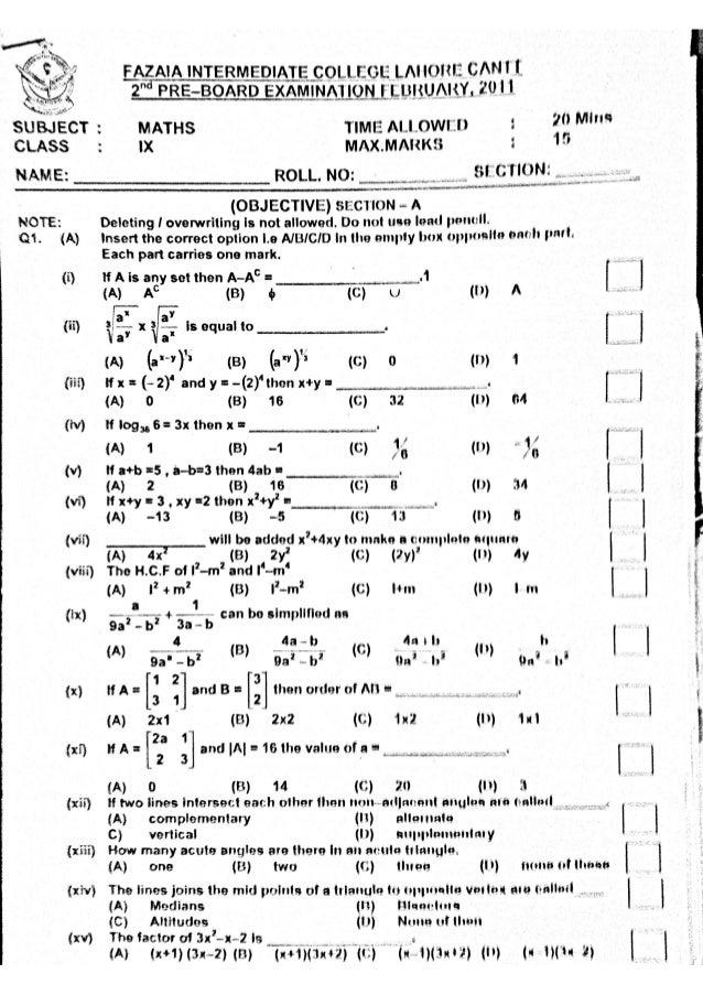 9th class chemistry mcqs pdf
