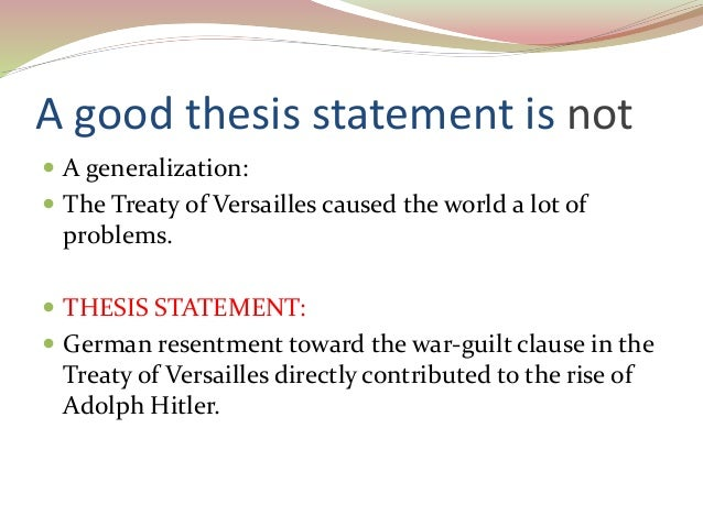 Good thesis statements for argument papers