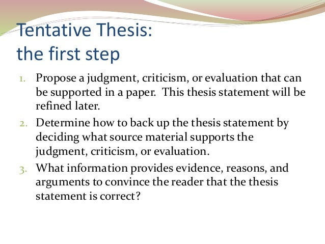 3 tentative thesis - An Example Of A Thesis Statement In An Essay