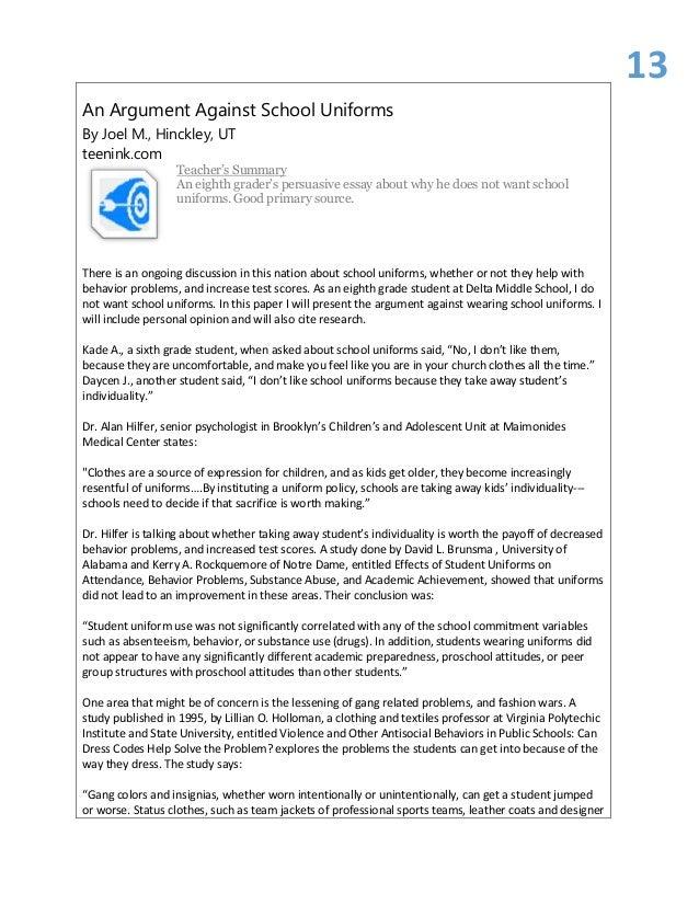 Argumentative Essay Example: Should High School Be Mandatory?