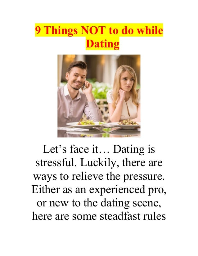 Things to find out while dating
