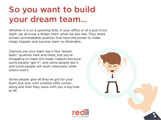 So you want to build your dream team… Whether it is on a sporting field, in your office or at a pub trivia night, we all ...