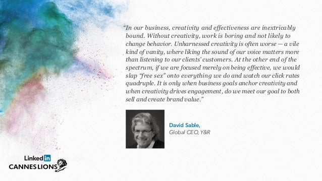 9 Thought Leaders Share Unique Perspectives on Creative Effectiveness Slide 2