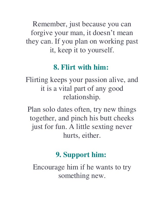 Tips to keep your man happy