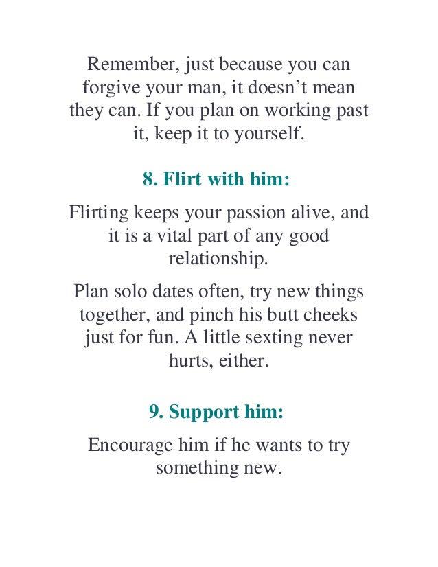 How to keep your man faithful