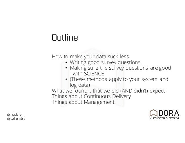 DOES16 San Francisco - Nicole Forsgren & Jez Humble - The Latest: What We Learned from the 2016 State of DevOps Report Slide 2