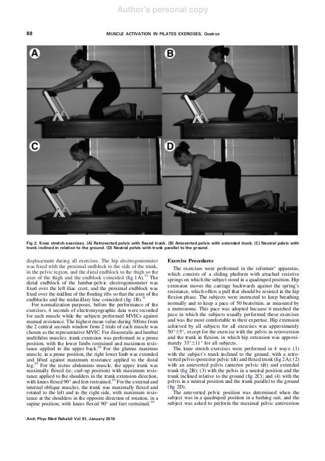 Muscle ativaction during four pilates core stability ... Oblique Exercises Abe