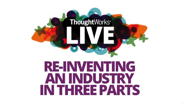 1 RE-INVENTING ANINDUSTRY INTHREEPARTS