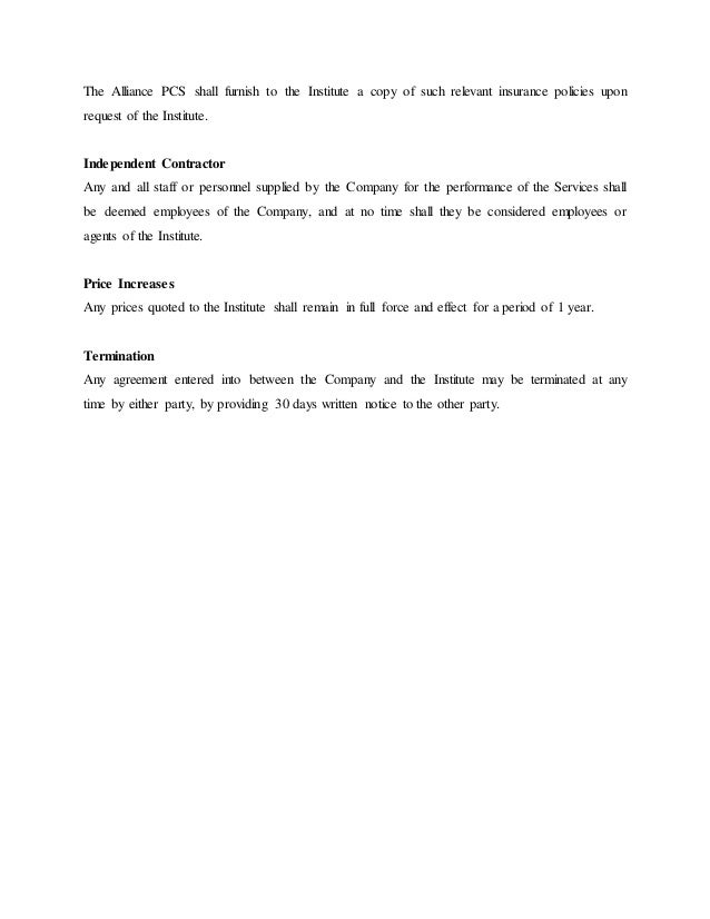 Cover Letter For Service Quotation