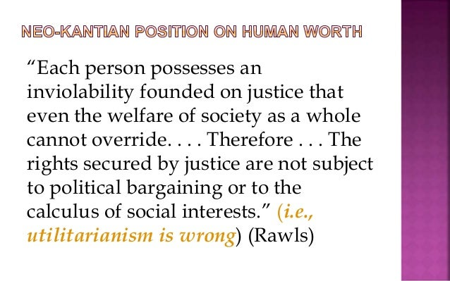 Rawls and Utilitarianism *
